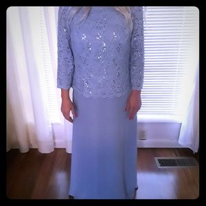 Long dress for party or wedding guest.